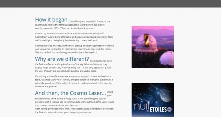 Rédactionnel sur les pages Cosmo Laser et The Company du Cosmo Laser
