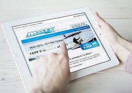 Newsletter adaptable pour tablette